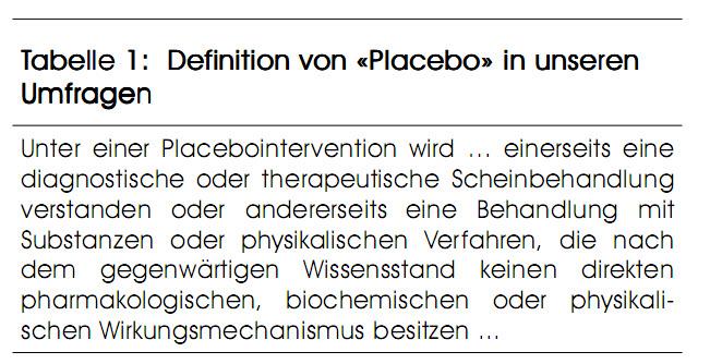 Placebo In Der ärztlichen Praxis Pharma Kritik Infomed Online